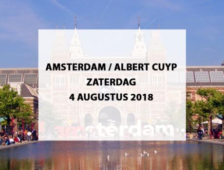 Amsterdam / Albert Cuyp (op eigen gelegenheid), zaterdag 4 augustus 2018