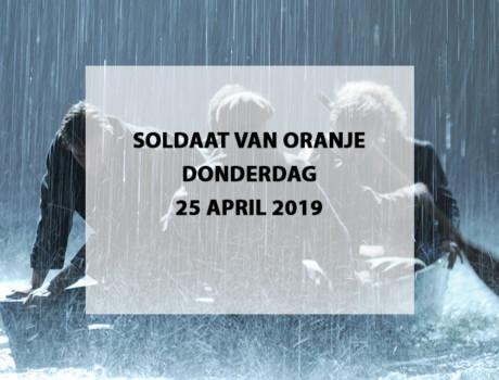 Musical Soldaat van Oranje donderdag 25 april 2019