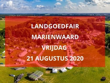 Landgoedfair Marienwaard 2020, vrijdag 21 augustus 2020